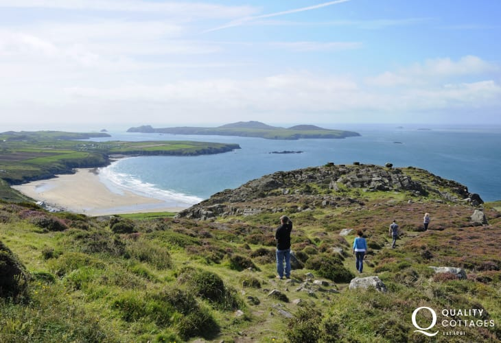 Walk to the top of Carn Lidi for the most spectacular views towards Ramsey Island
