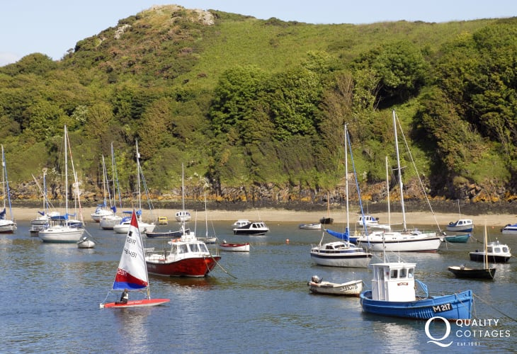 Solva, a picturesque harbour village with craft shops, galleries and a good choice of places to eat