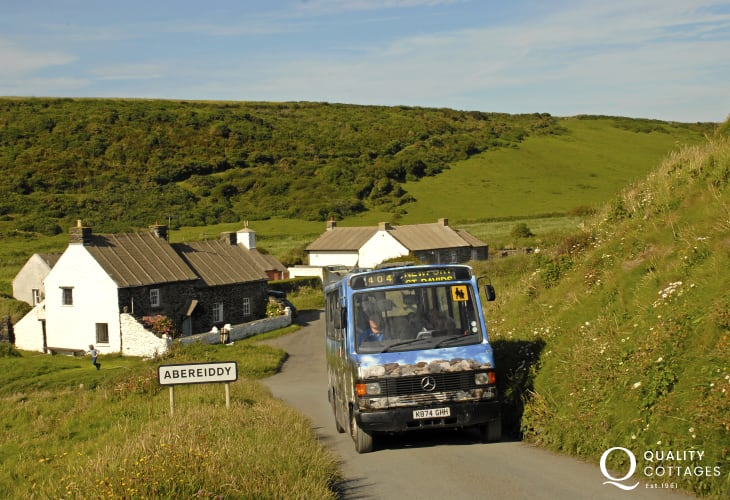 Hop on the 'Celtic Coaster' or 'Strumble Shuttle' - a coastal bus service ideal for walking the North Pembrokeshire Coast