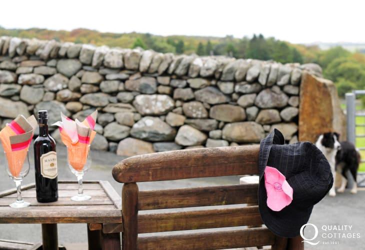 Rural retreats Wales -  patio