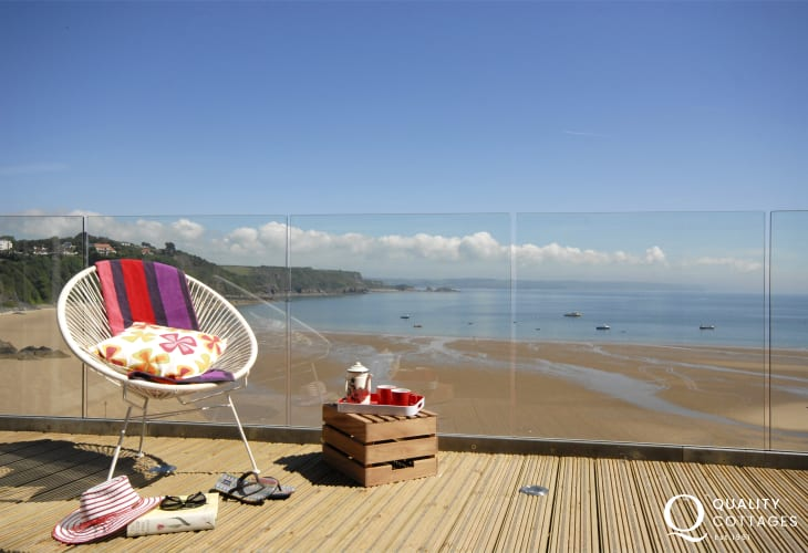 Breathtaking views from the deck overlooking North Beach