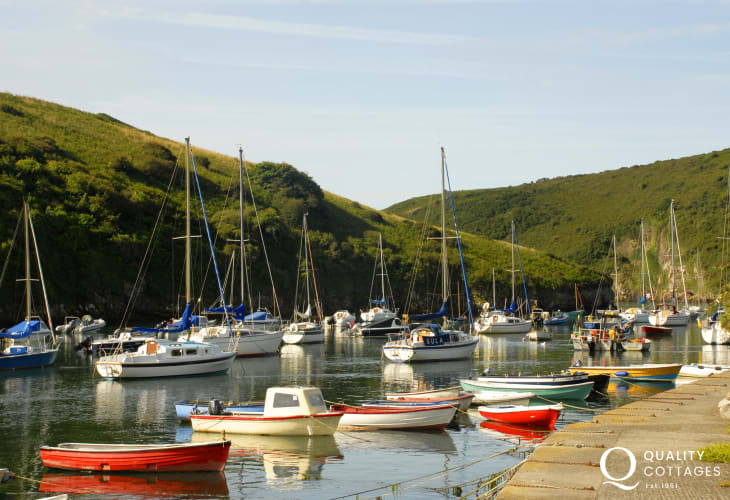 Solva - a pretty harbour village with galleries, pottery, pet friendly pubs and cafes