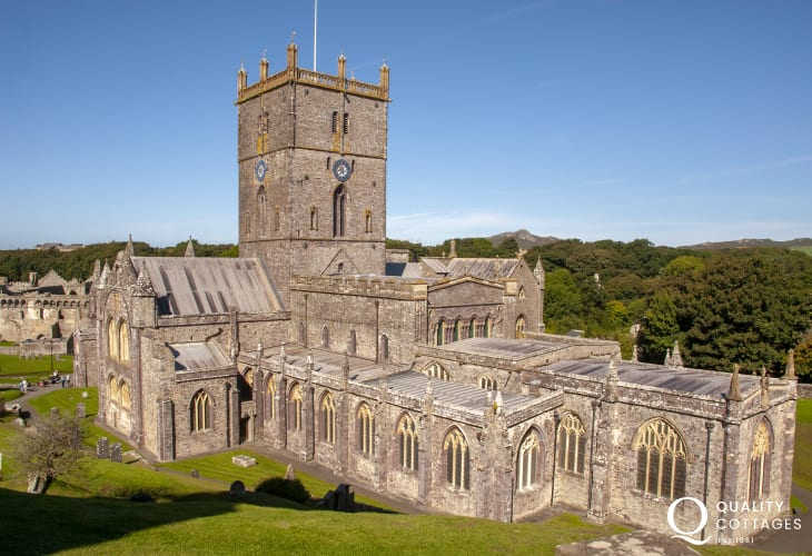 St Davids with its medieval Cathedral is within an easy drive