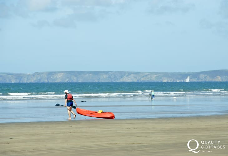 Broad Haven - Blue Flag sandy beach popular with families and water sport enthusiasts