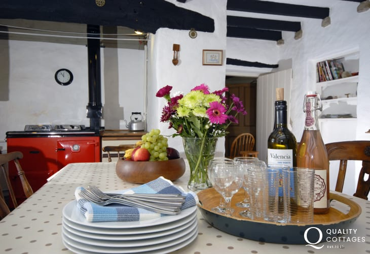Relax with friends and family at this traditional Welsh farmhouse near Newgale