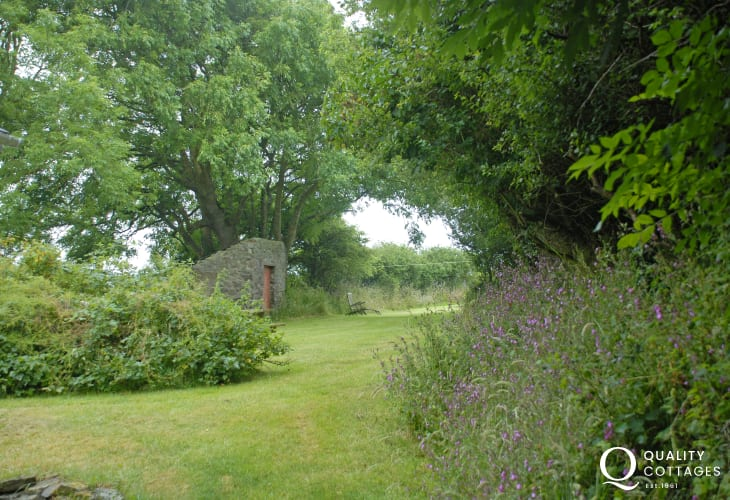 Tranquil gardens at this Pembrokeshire farmhouse