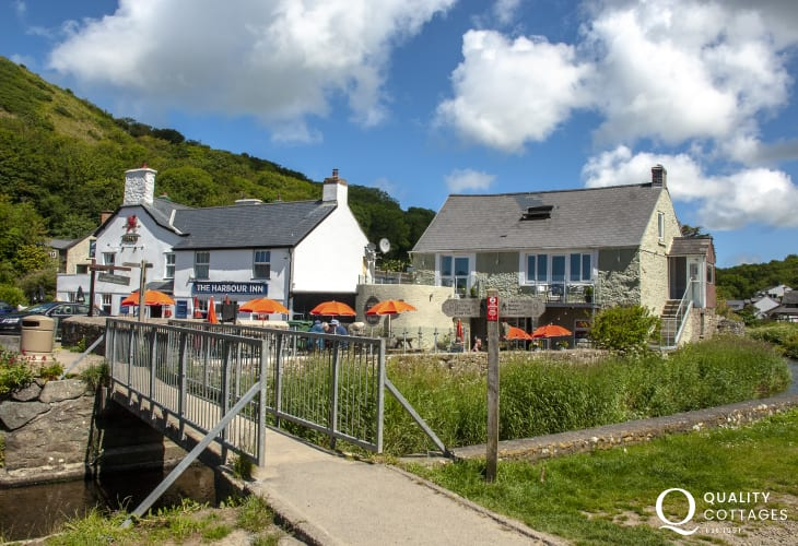 Relax and enjoy alfresco meals at Number 35 on the Solva River