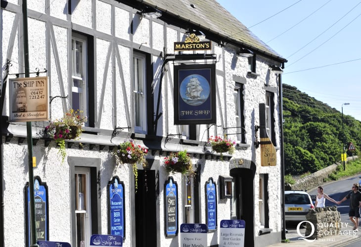 The Ship Inn lower Solva - a real pet friendly locals pub serving good bar food