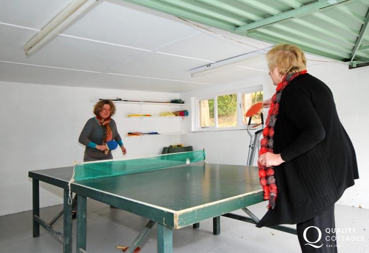 Harlech holiday cottage - games room