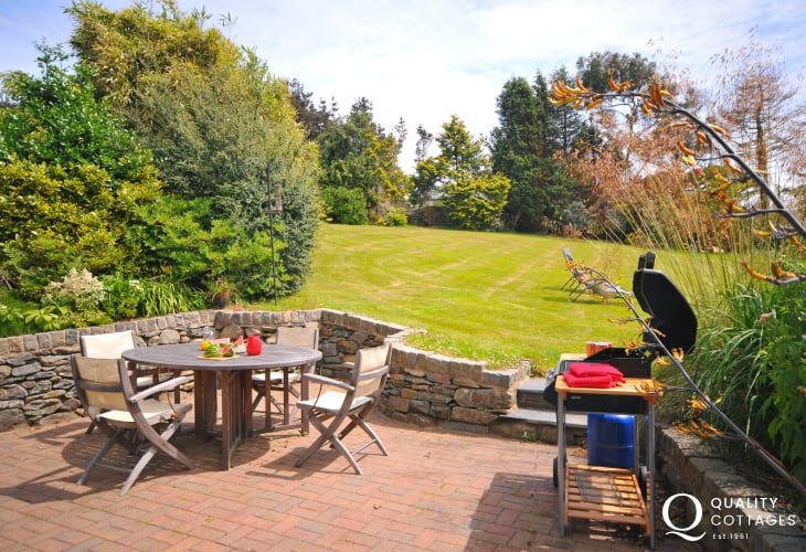 Large holiday cottage Wales - patio