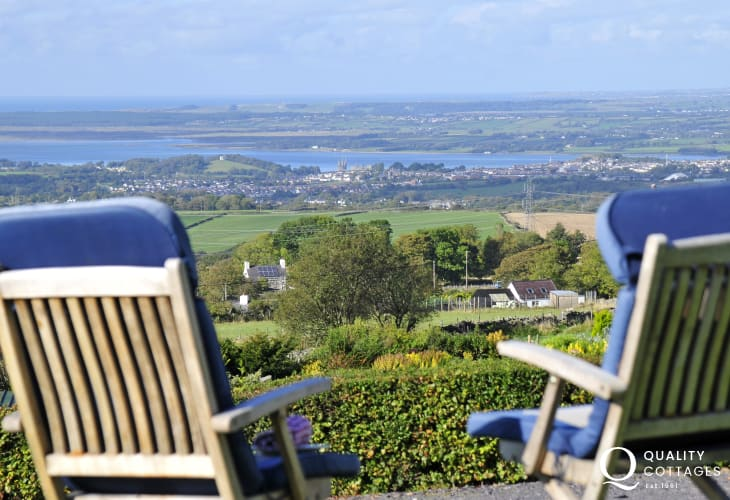 Caernarfon cottage views - view