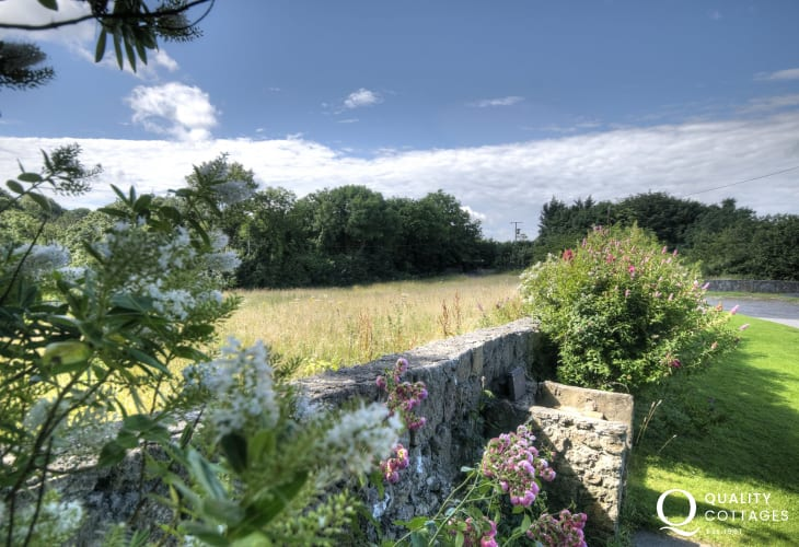 Countryside views from garden cottage