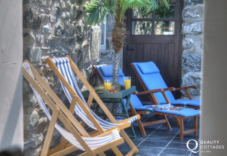 Snowdonia coastal cottage - conservatory