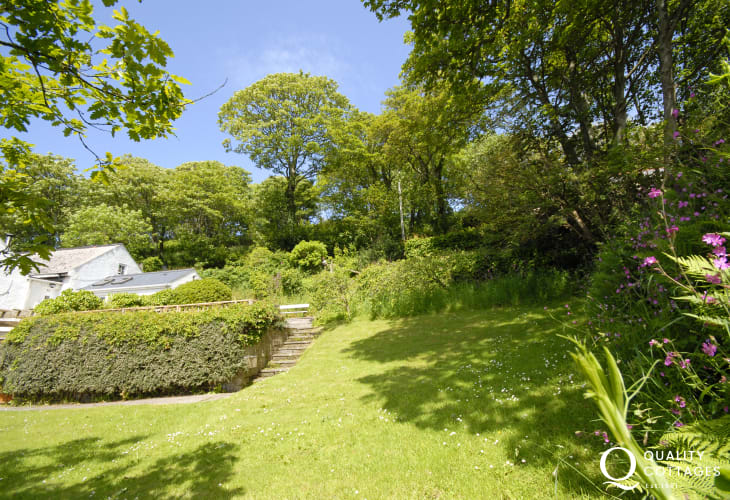 Solva cottage sheltered terrace and garden - a sun-trap all year round