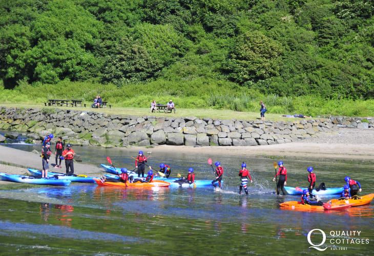 TYF Adventure Centre in St Davids offer a wide range of activities - coasteering, rock climbing or kayaking