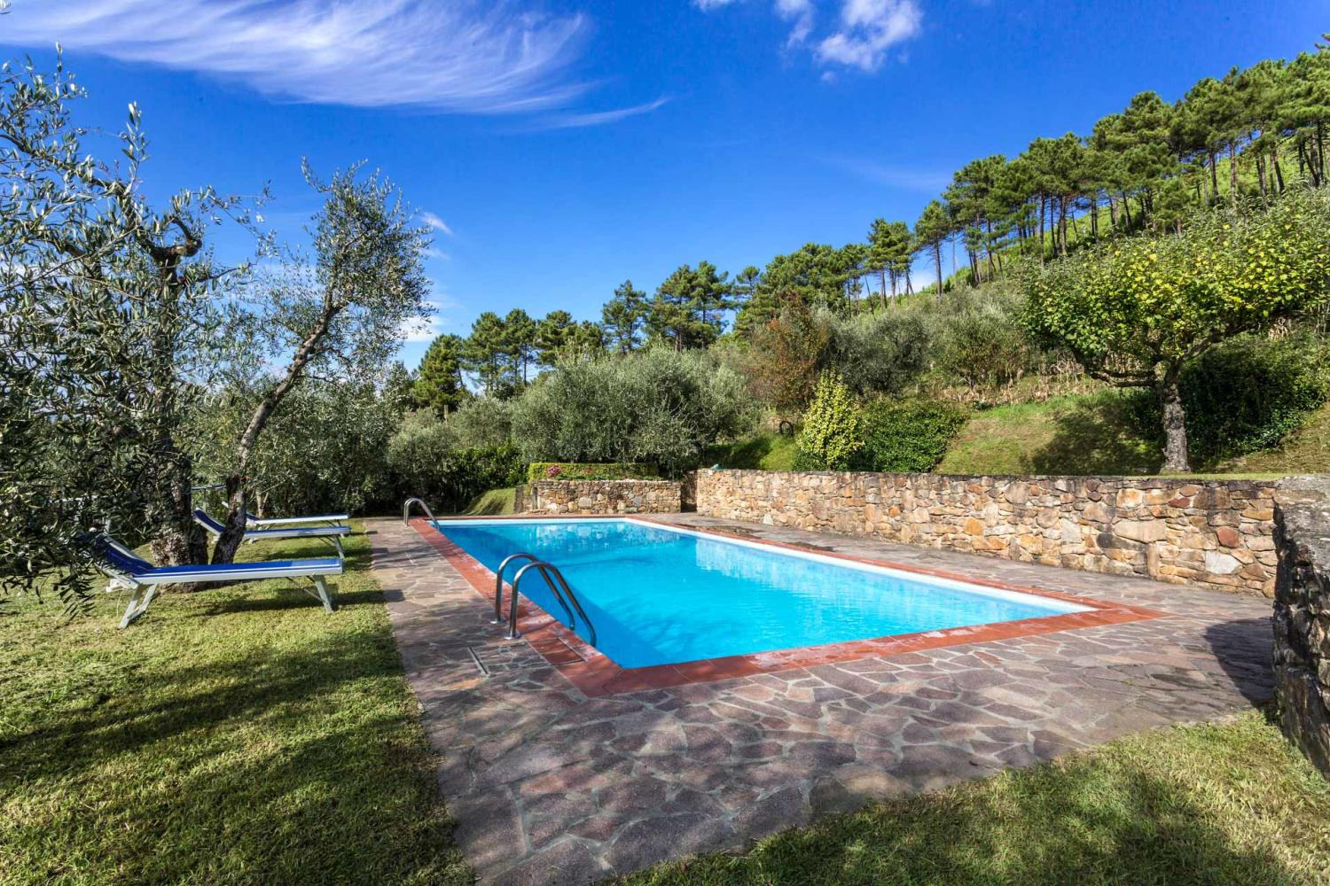 Outdoor pool, Casa Agrume, Tuscany, Lucca.