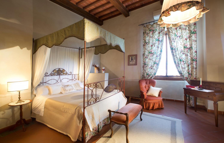 Bedroom 1, Castello Fusi, Tuscany, Barberino Val d'Elsa.