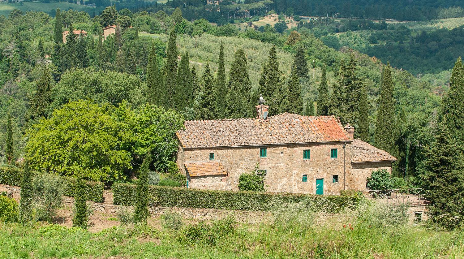Villa Exterior and Grounds, La Riserva, Greve in Chianti, Tuscany.