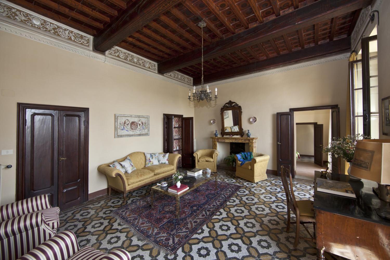 Living room, Casa Vittorio, Tuscany, San Giovanni d'Asso.