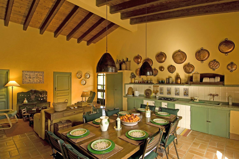 Kitchen and dining area, Casa Licata, Sicily, Licata.