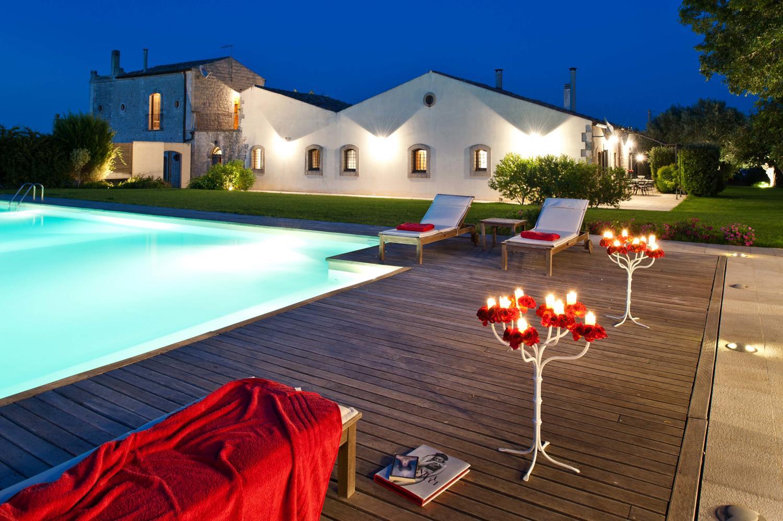 Outdoor pool evening 2
