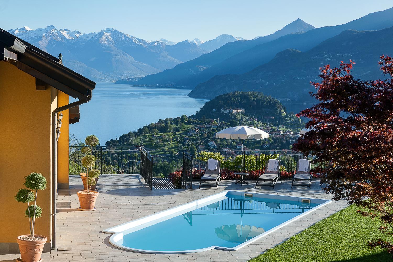 Villa Pool Seaview, Corticella di Lago, Bellagio, Italian Lakes.