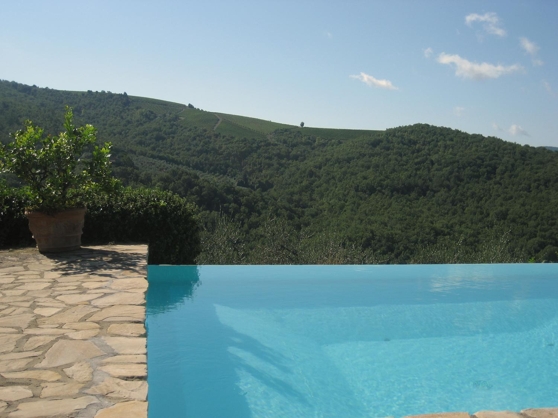 Outdoor pool, Casa Vigneti, Tuscany, Panzano in Chianti.