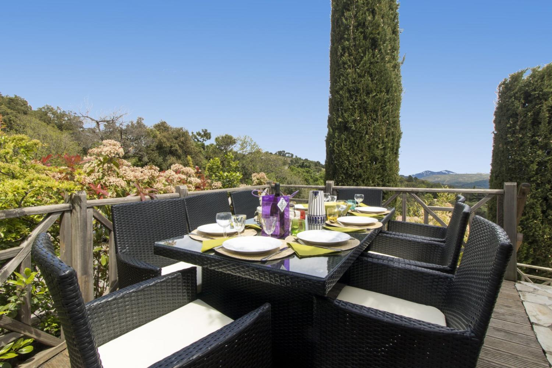 Outdoor Dining Table, L'Etoile Rose, La Garde-Freinet, St Tropez Var.