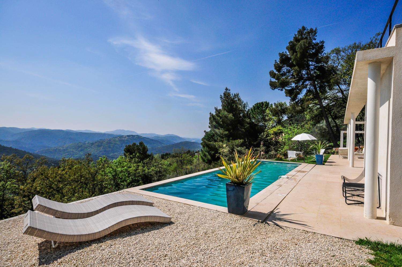 Outdoor Pool Views, L'Oiseau Blanc, Le Tignet, Cote d'Azur.