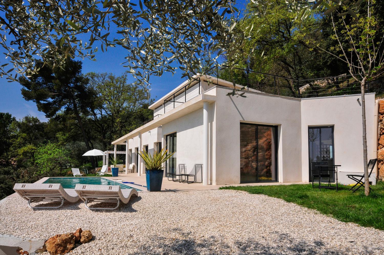 Villa Exterior, L'Oiseau Blanc, Le Tignet, Cote d'Azur.
