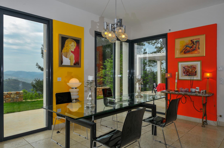 Dining Room, L'Oiseau Blanc, Le Tignet, Cote d'Azur.