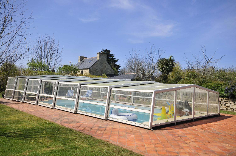 Outdoor Covered Pool, Ferme de Trez, Plouneour-trez, Brittany.