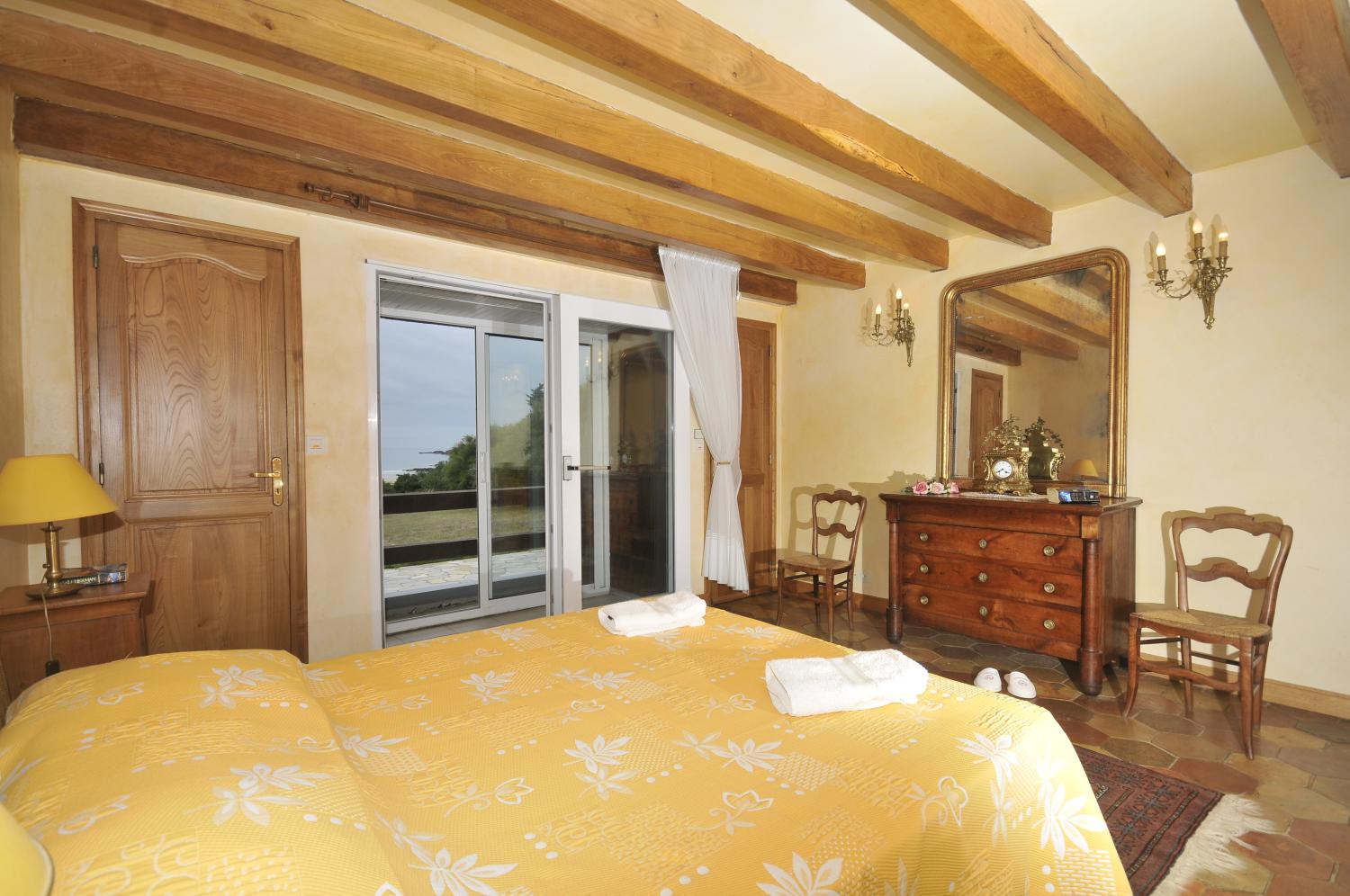 Bedroom 1, Cottage on the Beach, Le Pouldu, Brittany.