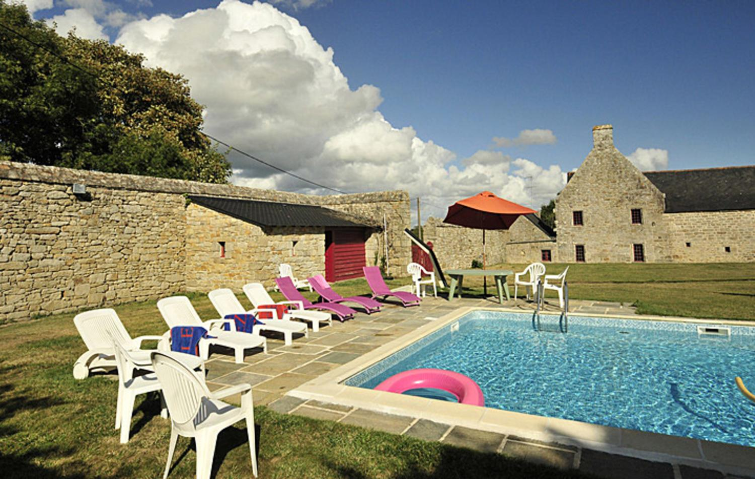Shared pool 1, Breton Manor House, Brittany, Audierne.