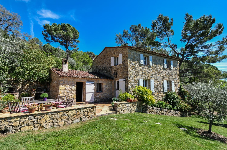 Villa Exterior, La Bastide du Bois, Tourrettes, Cote d'Azur.