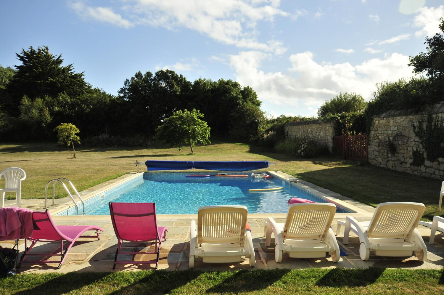 Outdoor pool 2, Breton Manor - Garden Wing, Brittany, Audierne.