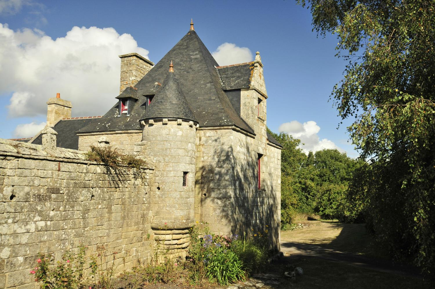 Villa exterior, Breton Manor - The Tower, Brittany, Audierne.