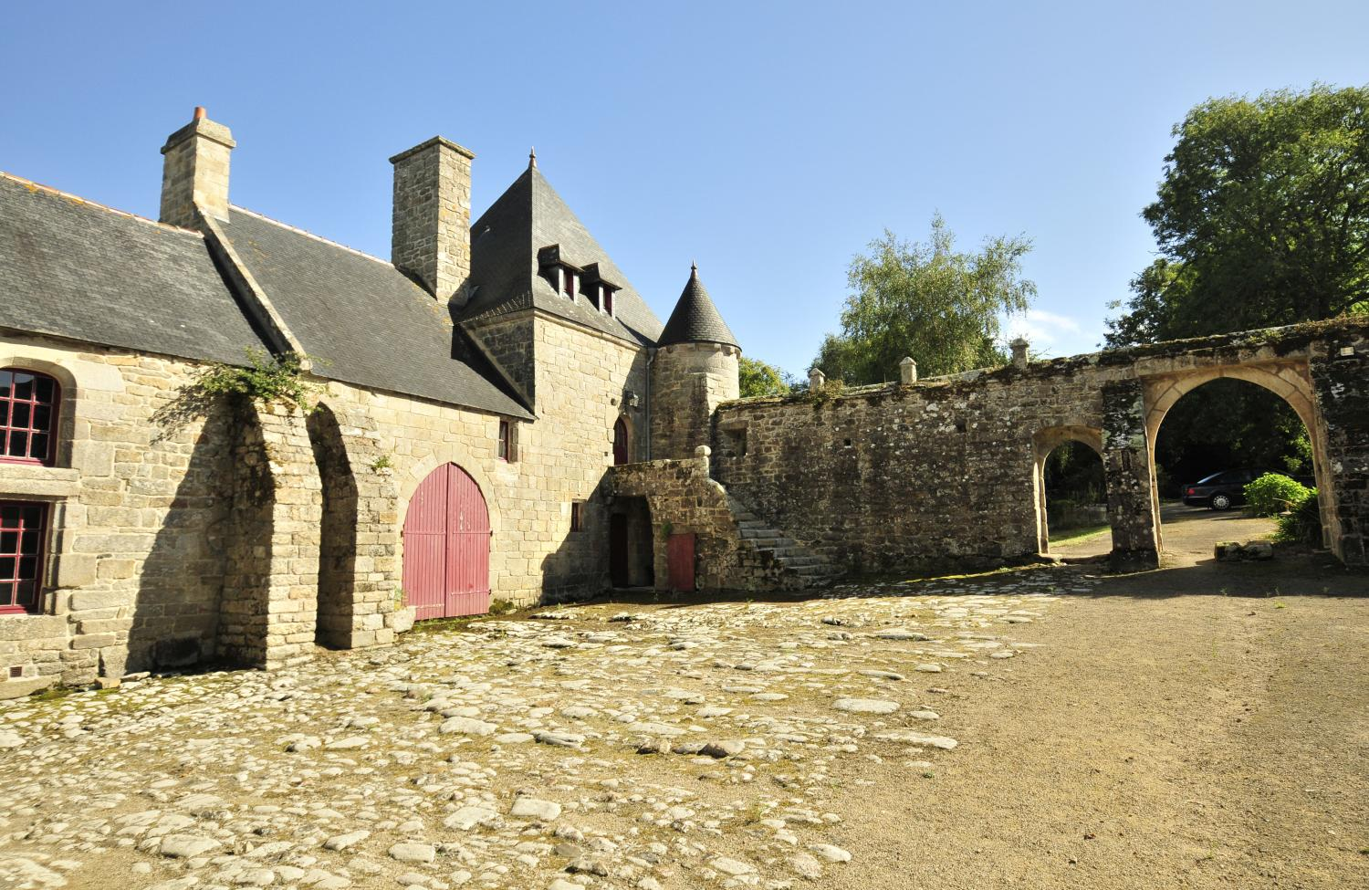 Private courtyard, Breton Manor - The Tower, Brittany, Audierne.