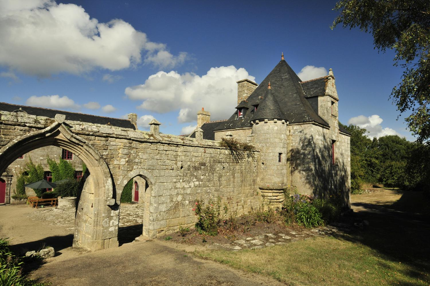 Villa exterior 2, Breton Manor - The Tower, Brittany, Audierne.