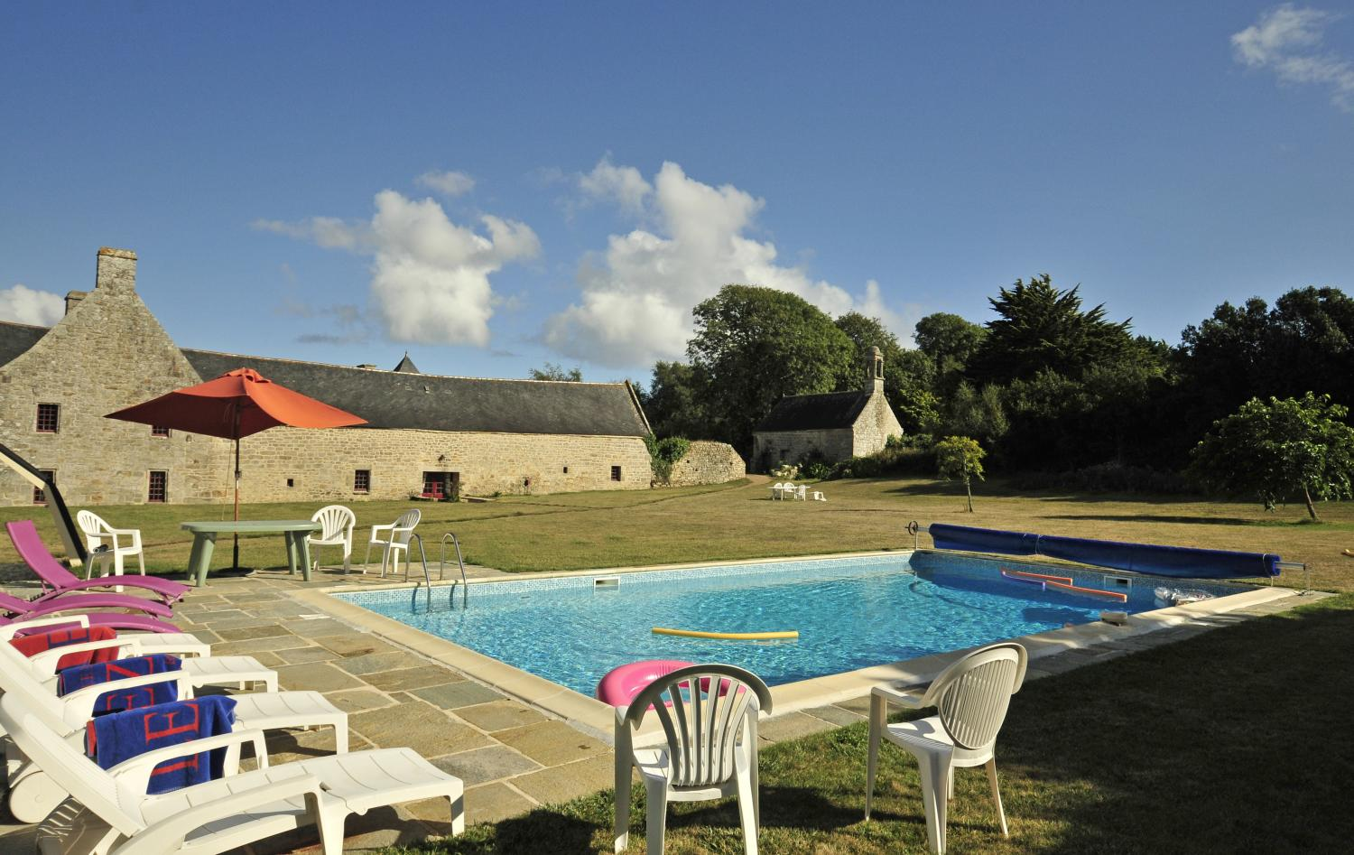 Shared pool, Breton Manor Estate, Brittany, Audierne.