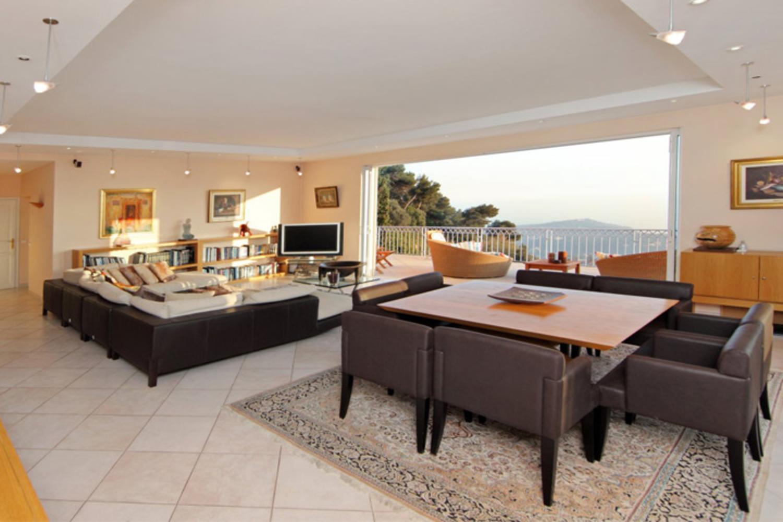 Lounge and Dining Room, Chanson De La Mer, Cote d'Azur, Villefranche-sur-Mer.