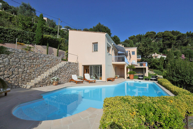 Villa Exterior and Pool, Chanson De La Mer, Cote d'Azur, Villefranche-sur-Mer.