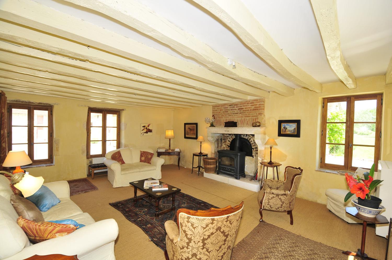 Living Room, Ferme de Campagne, St Gaultier, Loire.