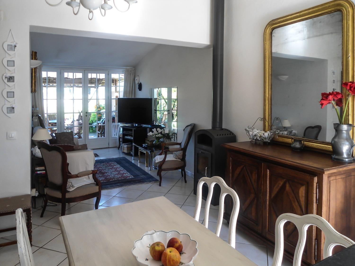 internal of villa with shared pool
