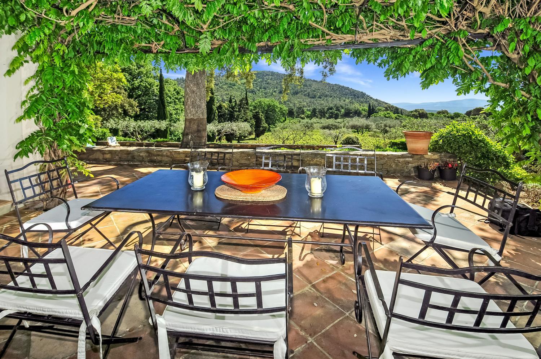 Outdoor Dining Table, Domaine des Chataigniers, La Garde-Freinet, St Tropez Var.