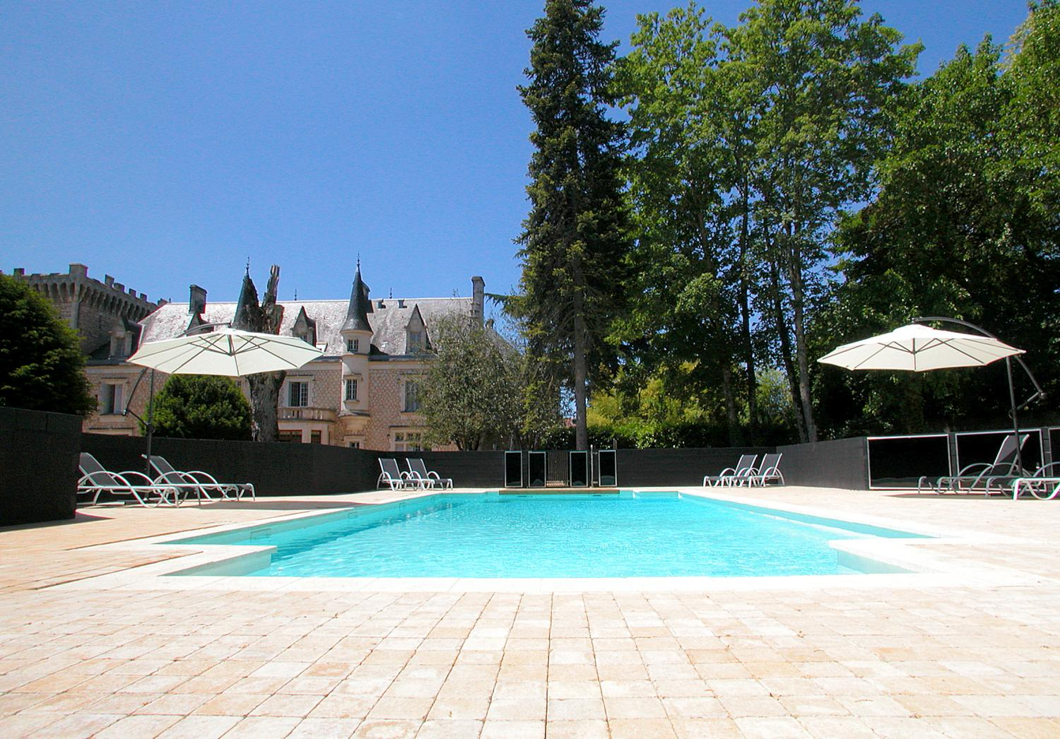Outdoor Pool 1, Chateau de la Couronne, Vendee Charente, Angouleme.