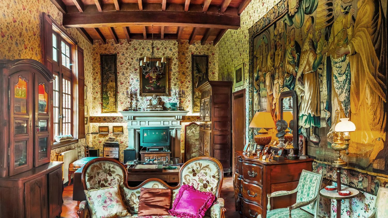 Lounge, Chateau des Perdrix, Millancay, Loire.
