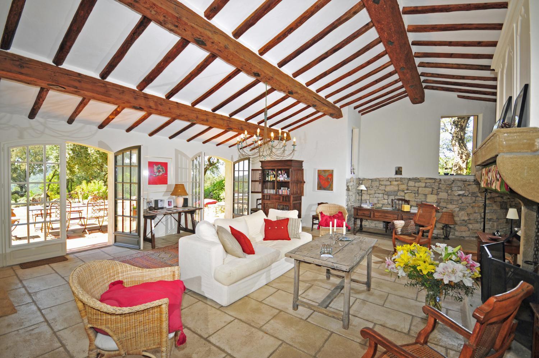 Living Room, La Biche au Bois, La Garde-Freinet, St Tropez Var.