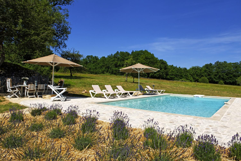 Outdoor Pool 1, L'Ancienne Borie, Hautefort, Dordogne.