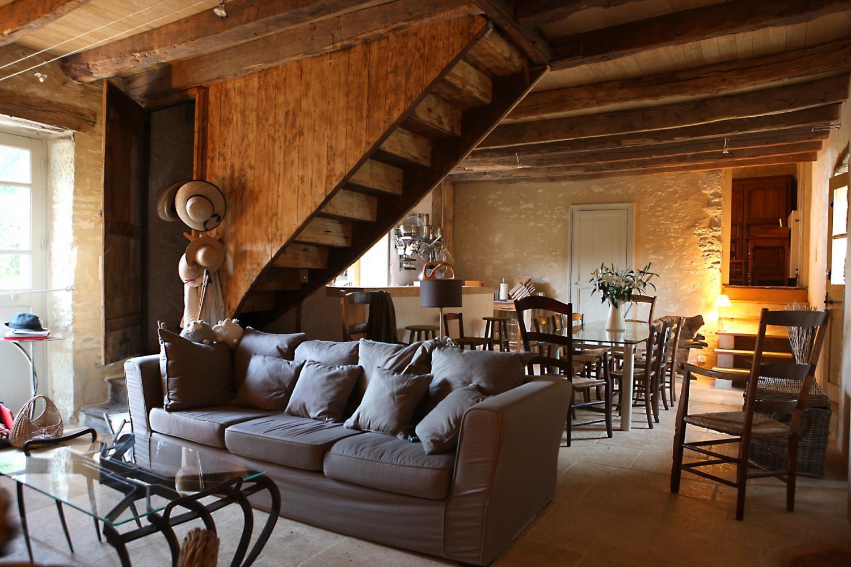 Living Room 2, L'Ancienne Borie, Hautefort, Dordogne.